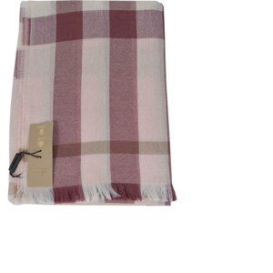 NWT Burberry Wool Cashmere Pink Nova Check Scarf